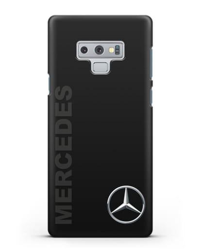 Чехол с надписью Mercedes и логотипом силикон черный для Samsung Galaxy Note 9 [N960F]