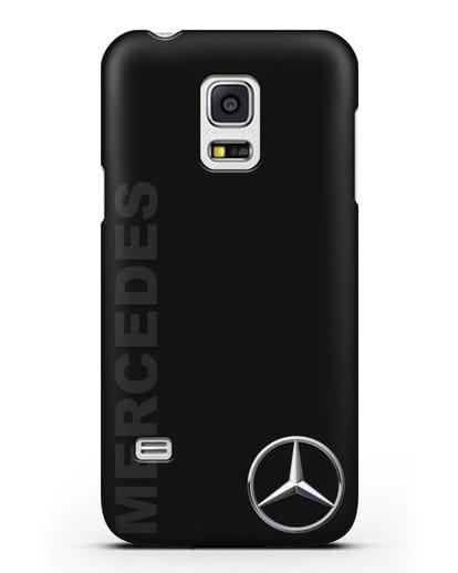 Чехол с надписью Mercedes и логотипом силикон черный для Samsung Galaxy S5 Mini [SM-G800F]