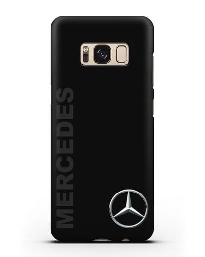 Чехол с надписью Mercedes и логотипом силикон черный для Samsung Galaxy S8 [SM-950F]