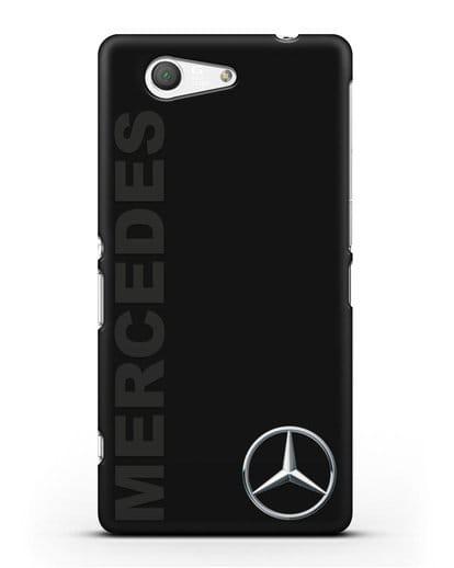 Чехол с надписью Mercedes и логотипом силикон черный для Sony Xperia Z3 Compact