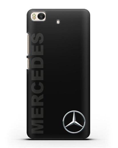 Чехол с надписью Mercedes и логотипом силикон черный для Xiaomi Mi 5S