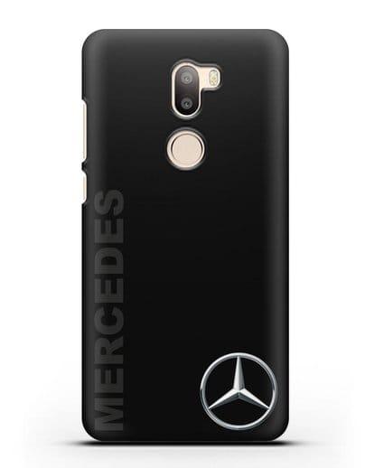 Чехол с надписью Mercedes и логотипом силикон черный для Xiaomi Mi 5S Plus