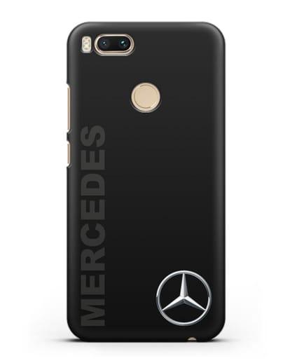 Чехол с надписью Mercedes и логотипом силикон черный для Xiaomi Mi 5X