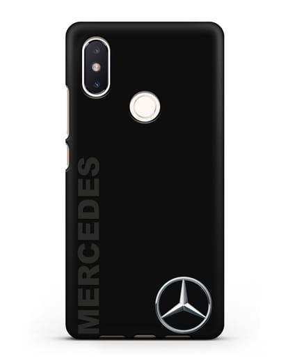 Чехол с надписью Mercedes и логотипом силикон черный для Xiaomi Mi 8 SE
