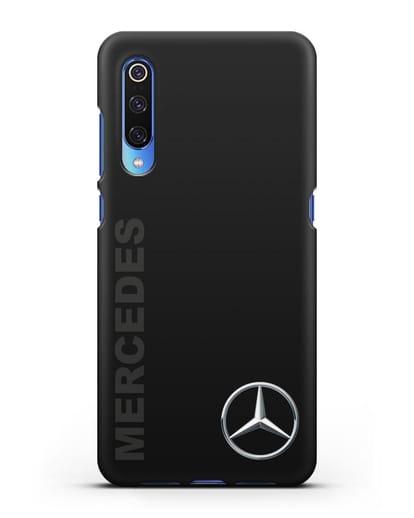 Чехол с надписью Mercedes и логотипом силикон черный для Xiaomi Mi 9