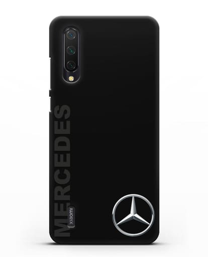 Чехол с надписью Mercedes и логотипом силикон черный для Xiaomi Mi CC9