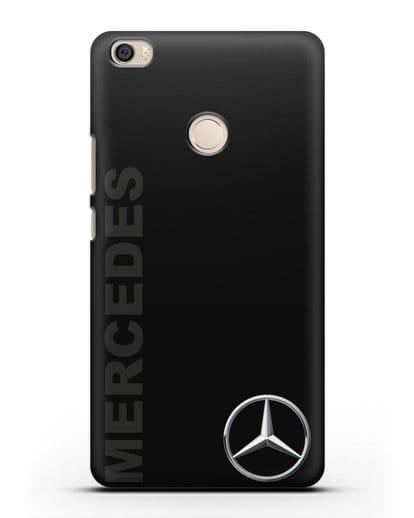 Чехол с надписью Mercedes и логотипом силикон черный для Xiaomi Mi Max