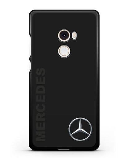 Чехол с надписью Mercedes и логотипом силикон черный для Xiaomi Mi Mix 2