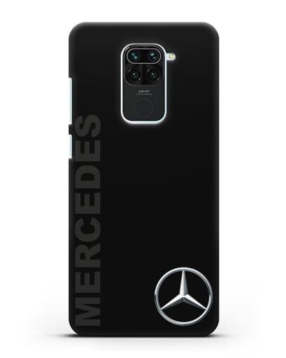 Чехол с надписью Mercedes и логотипом силикон черный для Xiaomi Redmi 10X