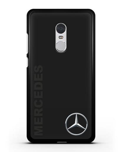 Чехол с надписью Mercedes и логотипом силикон черный для Xiaomi Redmi Note 4