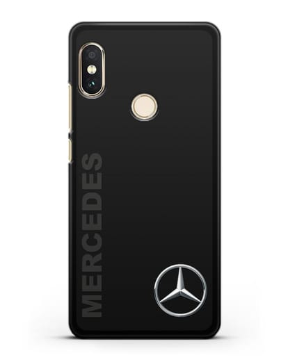 Чехол с надписью Mercedes и логотипом силикон черный для Xiaomi Redmi Note 5