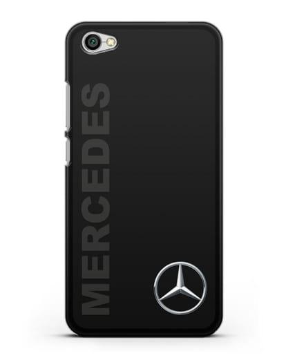 Чехол с надписью Mercedes и логотипом силикон черный для Xiaomi Redmi Note 5A