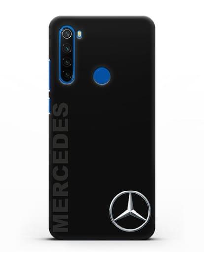 Чехол с надписью Mercedes и логотипом силикон черный для Xiaomi Redmi Note 8T