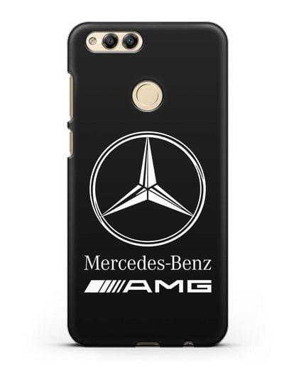 Чехол с логотипом Mercedes Benz AMG силикон черный для Honor 7X