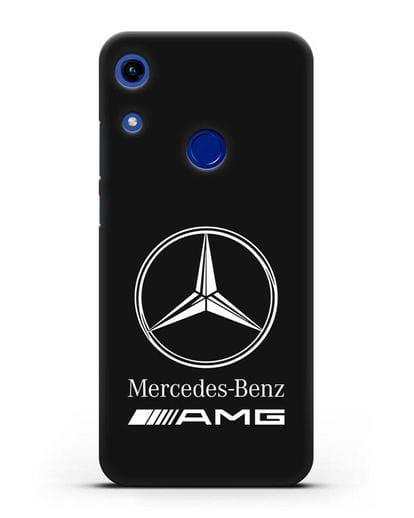 Чехол с логотипом Mercedes Benz AMG силикон черный для Honor 8A