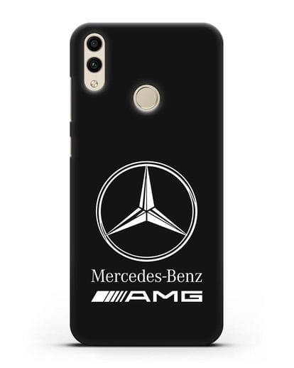 Чехол с логотипом Mercedes Benz AMG силикон черный для Honor 8C