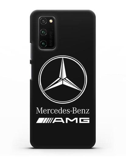 Чехол с логотипом Mercedes Benz AMG силикон черный для Honor View 30 Pro