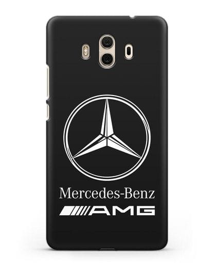 Чехол с логотипом Mercedes Benz AMG силикон черный для Huawei Mate 10