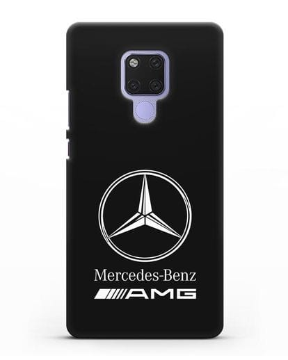 Чехол с логотипом Mercedes Benz AMG силикон черный для Huawei Mate 20X
