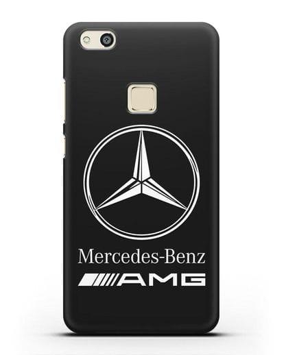 Чехол с логотипом Mercedes Benz AMG силикон черный для Huawei P10 Lite