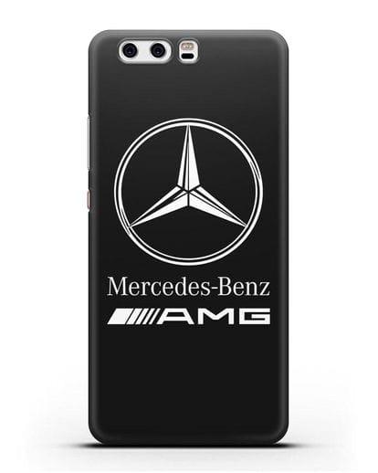 Чехол с логотипом Mercedes Benz AMG силикон черный для Huawei P10 Plus