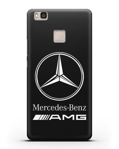 Чехол с логотипом Mercedes Benz AMG силикон черный для Huawei P9 Lite