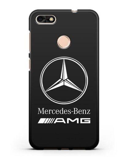 Чехол с логотипом Mercedes Benz AMG силикон черный для Huawei P9 Lite mini