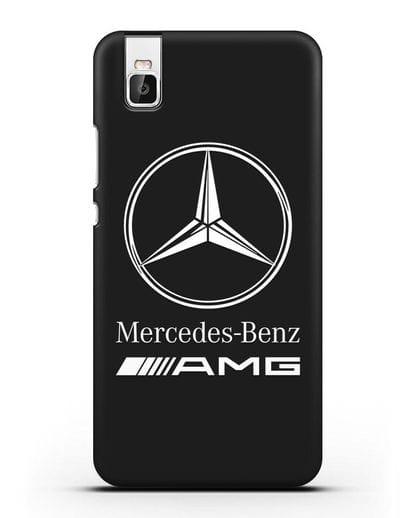 Чехол с логотипом Mercedes Benz AMG силикон черный для Huawei Shot X