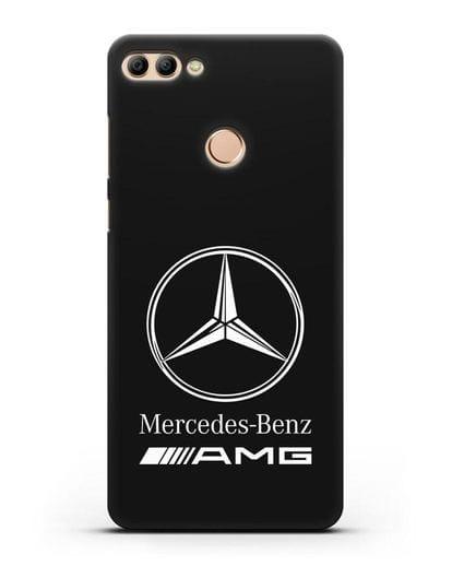 Чехол с логотипом Mercedes Benz AMG силикон черный для Huawei Y9 2018