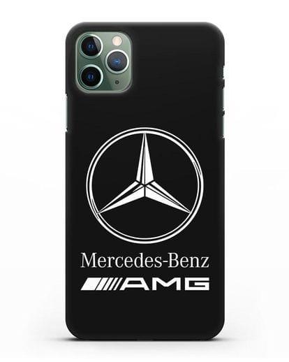 Чехол с логотипом Mercedes Benz AMG силикон черный для iPhone 11 Pro