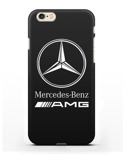Чехол с логотипом Mercedes Benz AMG силикон черный для iPhone 6s
