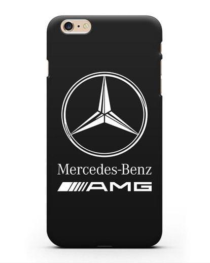 Чехол с логотипом Mercedes Benz AMG силикон черный для iPhone 6s Plus