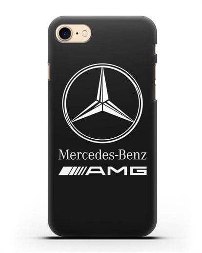 Чехол с логотипом Mercedes Benz AMG силикон черный для iPhone SE 2020