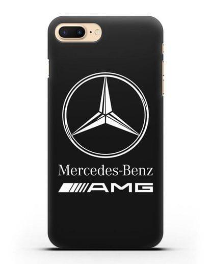 Чехол с логотипом Mercedes Benz AMG силикон черный для iPhone 8 Plus