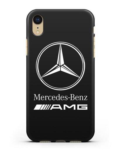 Чехол с логотипом Mercedes Benz AMG силикон черный для iPhone XR