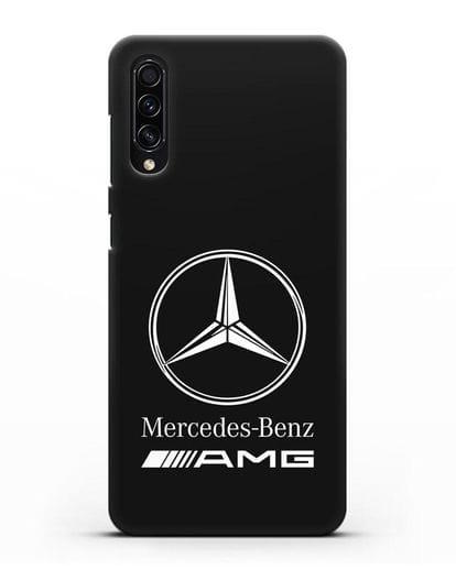 Чехол с логотипом Mercedes Benz AMG силикон черный для Samsung Galaxy A50s [SM-F507FN]