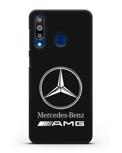 Чехол с логотипом Mercedes Benz AMG силикон черный для Samsung Galaxy A60 [SM-A606F]