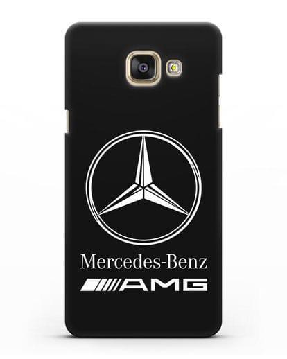 Чехол с логотипом Mercedes Benz AMG силикон черный для Samsung Galaxy A7 2016 [SM-A710F]