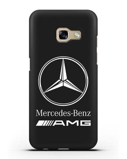 Чехол с логотипом Mercedes Benz AMG силикон черный для Samsung Galaxy A7 2017 [SM-A720F]