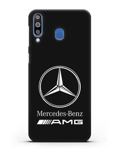 Чехол с логотипом Mercedes Benz AMG силикон черный для Samsung Galaxy M30 [SM-M305F]