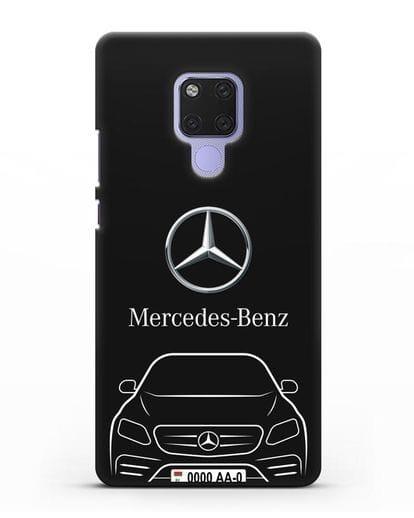 Чехол Mercedes Benz E-класс с автомобильным номером силикон черный для Huawei Mate 20X