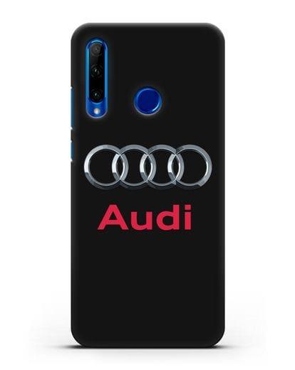 Чехол с логотипом Audi силикон черный для Honor 10i