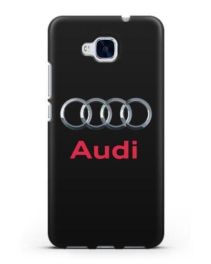 Чехол с логотипом Audi силикон черный для Honor 5C
