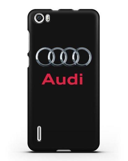 Чехол с логотипом Audi силикон черный для Honor 6