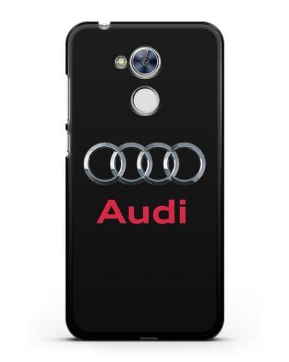 Чехол с логотипом Audi силикон черный для Honor 6A