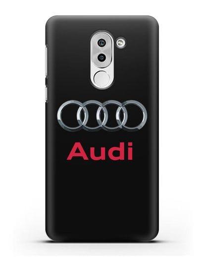 Чехол с логотипом Audi силикон черный для Honor 6X