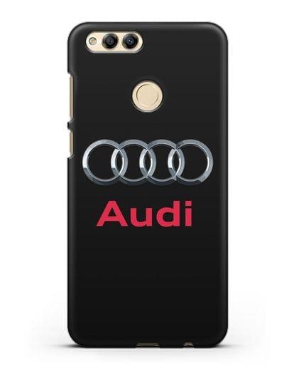 Чехол с логотипом Audi силикон черный для Honor 7X