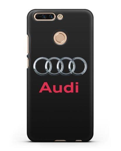 Чехол с логотипом Audi силикон черный для Honor 8 Pro