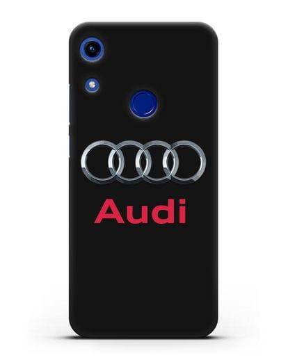 Чехол с логотипом Audi силикон черный для Honor 8A