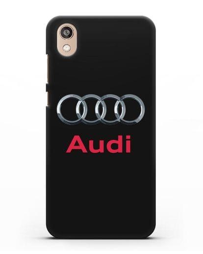 Чехол с логотипом Audi силикон черный для Honor 8S